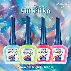 Colección Sintétika #SoyMasglo #Masglo #MasgloLOVERS #ColeccionSintétika #NailPolish