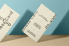 An original psd business card mockup to display your next branding project. Easily add your business card design using the smart...