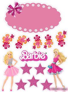 Happy Birthday Printable, Happy Birthday Kids, Happy Birthday Cake Topper, Iron Man Birthday, Superman Birthday, Barbie Theme, Barbie Cake, Barbie Birthday Party, Barbie Party