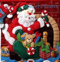 Bucilla Must Be Santa Felt Christmas Advent Calendar Kit