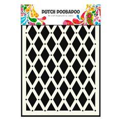 Pochoir Mask Dutch Doobadoo motif fond