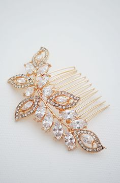 Vintage Style Cubic Zirconia and Crystals Bridal Hair Comb in rose gold from EarringsNation Bridal Hair Accessories Rose Gold weddings Blush Weddings Garden weddings Bridal Shoes, Bridal Jewelry, Blush And Gold, Rose Gold, Bling Wedding, Wedding Stuff, Blush Weddings, Garden Weddings, Blush Bridal