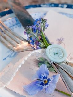 delicate place setting - I'd subtract the button and add something else