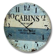 Cabins For Rent Beach Clock
