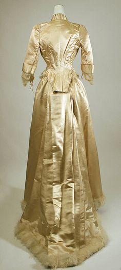 Evening dress with 2 bodices Date: 1885–87 Culture: American Medium: silk Accession Number: C.I.37.6.3a–c