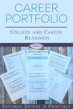 This professional career portfolio resource is a Google Slides template for students to fill with their own information. It is seamlessly setup to distribute and go. This is a great resource for college and career readiness standards. Juniors and seniors explore career options, set goals for post-secondary pathways, and build a tool to help with the transition from high school to life. #collegeandcareer Career Exploration, Career Education, Teaching Strategies, Teaching Resources, Life After High School, Experiential Learning, 21st Century Skills, Career Options, Teacher Blogs