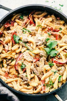 Creamy Pork Carnitas Pasta | The Recipe Critic