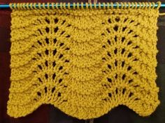 "The ""Feather & Fan"" Knit Stitch Tutorial! ! - YouTube"