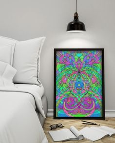 SOLD Poster Ethnic Style! http://www.zazzle.com/poster_ethnic_style-228805082872953024 #Zazzle #Poster #drawing #doodle #Ethnic #tribal #abstract #pink #green #Style