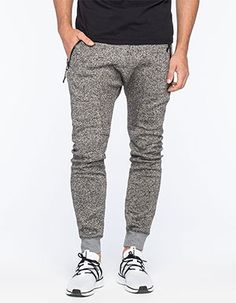 UNCLE RALPH Heathered Zip Mens Jogger Pants