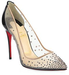 Christian Louboutin Foll Mesh & Crystal Pumps on shopstyle.com