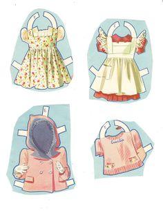 Dionne Quintuplets Paper Dolls (16 of 26): Emilie, #3488 Merrill 1940 | Miss Missy Paper Dolls