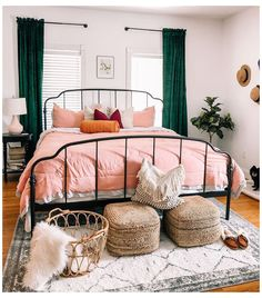 Home Decor Colors, Green Home Decor, Room Ideas Bedroom, Home Decor Bedroom, Design Bedroom, Design Your Own Bedroom, Bedroom Sets, Bedrooms, Home Design