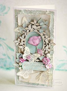 Scrapbook Paper Crafts, Scrapbook Cards, Scrapbooking, Vintage Crafts, Shabby Vintage, Butterfly Cards, Flower Cards, Pretty Cards, Cute Cards