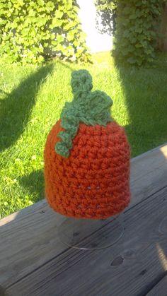 Newborn Baby Pumpkin hat Crochet SALE Any Size Autumn Fall Boy Girl 6-12 3-6 12-24 mos toddler Photo Studio Prop Photography Hats Beanie