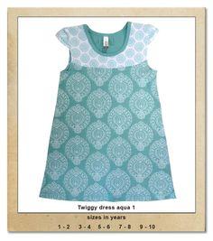Sillybilly© clothing: Twiggy dress aqua 1 Twiggy, Summer Collection, Aqua, Girls, Clothing, Tops, Dresses, Women, Fashion