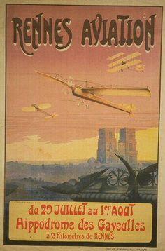 Rennes aviation - Hippodrome des Gayeulles - 1910's - (Boursier) -