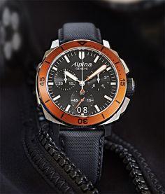 Alpina Seastrong Diver 300 Chronographe Big Date.