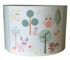 Kinderlamp forest friends pastel