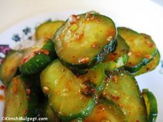 Korean Cucumber Side Dish aka Banchan....Tried this the other day and it was delish!!