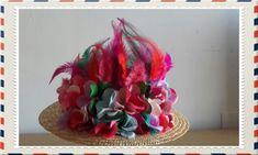 Valentino icon Hat Kentucky Derby Celebrities Runway Flowers Feathers COOL OFFER #Handmade #PartyEveryDayGoodLookWedding