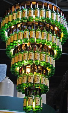 30. It makes an impressive chandelier. | 38 Reasons Jameson Is The Liquor Of The Gods
