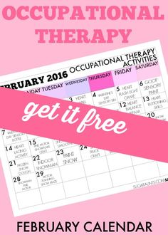 It's been a lot of fun coming up with creative activities for Occupational Therapy treatment ideas for the past couple of months. Since sharing our December and January calendars, I've had a lot of great feedback from Occupational Therapists who are using the calendars in treating clients, parents who are looking for creative activities to do with their kids at home, and teachers who are applyin...