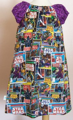 MKD PLAY Star Wars Comic Play Dress by @My Kids Drawers | https://www.facebook.com/pages/My-Kids-Drawers/223718661039360 https://www.etsy.com/shop/mykidsdrawers