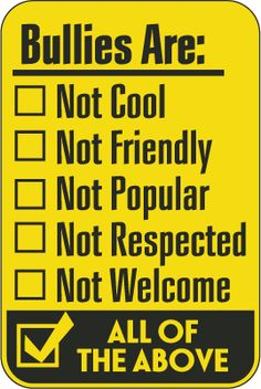 Products We Love: Bully Free Zone Signs Stop Bullying Posters, Cyber Bullying Poster, Stop Bullying Now, Anti Bullying, Bullying Activities, Bullying Lessons, Learned Helplessness, Low Self Confidence, Bullying Prevention