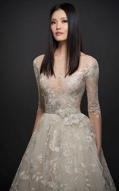 Courtesy of Lazaro Wedding Dresses of JLM Couture; Wedding dress idea.