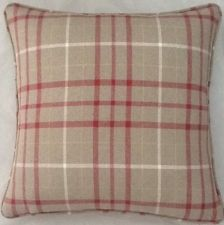A 16 Inch Cushion Cover In Laura Ashley Keynes Cranberry Fabric English Country Decor, Country Farmhouse Decor, Country Living, Cozy Cottage, Curtain Fabric, Laura Ashley, Snug, Tartan, Plaid