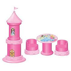 Puzzle Furniture- Disney Princess  Love this - play table and chair that fold up into a castle tower.