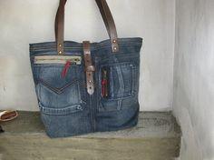 Jeans Tasche recyceltem Denim Denim Hobo Bag Denim