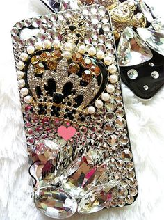 Bling diamond crown iphone 4s case