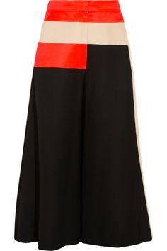 Roksanda Ilincic Paneled basketweave pants NET-A-PORTER.COM
