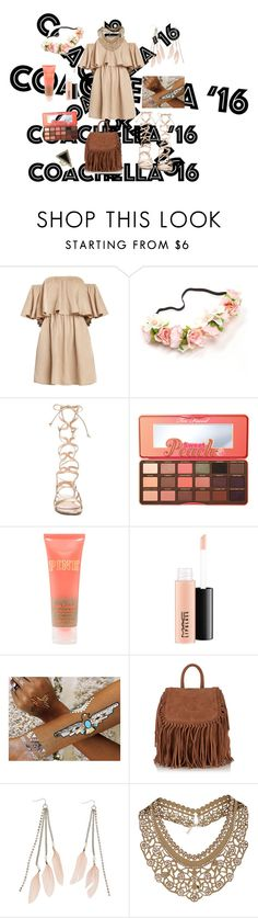 """2016"" by eliyanakubelis on Polyvore featuring Gianvito Rossi, Too Faced Cosmetics, MAC Cosmetics, Flash Tattoos, Superdry, Charlotte Russe, Topshop and House of Harlow 1960"