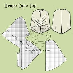 Cape and Drape in one design. :)