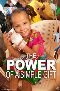 """""""The day I got my shoe box was the day I began to laugh."""" ~Livia, shoe box recipient"""