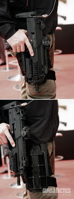 Heckler & Koch MP7 and dropleg holster.