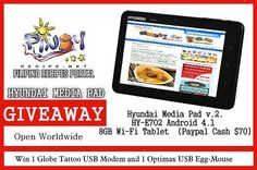 Now who's gonna win this Hyundai Media Pad Giveaway PH / Paypal Cash upto $70 WWW 10/28