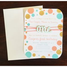 first birthday invitation first birthday invite pink by FalcoClan