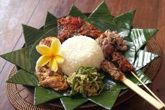 indonesian food - Nasi Campur, lovely street food