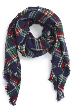 Free shipping and returns on Sole Society Plaid Blanket Scarf at Nordstrom.com. Deep reds, greens, and blues inclassic plaid pattern an oversized, wool-blend blanket scarf detailed with fuzzy fringe.