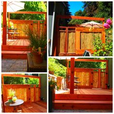 Nine Red: Before & After: Beautiful Bamboo Fence #2