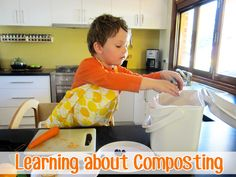Learning About Composting with Children. Have you thought about composting the children's fruit scraps for your school garden?
