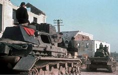 A convoy of Pzkpfw-IV's in Russia