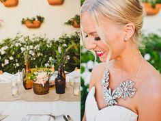crazy awesome dress Modern Laguna Beach Wedding