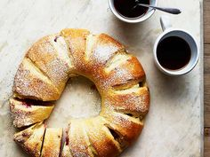 Raspberry Danish Wreaths Recipe : Food Network Kitchen : Food Network - FoodNetwork.com