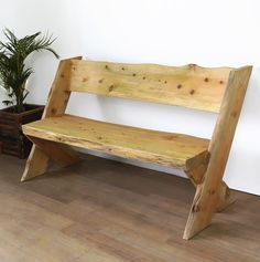 Outdoor wooden furniture rustic log benches ideas for 2019 Live Edge Furniture, Recycled Furniture, Woodworking Furniture, Pallet Furniture, Furniture Ideas, Rustic Wood Bench, Rustic Outdoor Furniture, Diy Garden Furniture, Coaster Fine Furniture