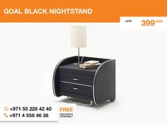 We are glad to announce the Goal black nightstand.  Simple and nice, it could organically fit your home or even office. Keep the goal clear and follow the link: http://gtfshop.com/goal-black-nightstand
